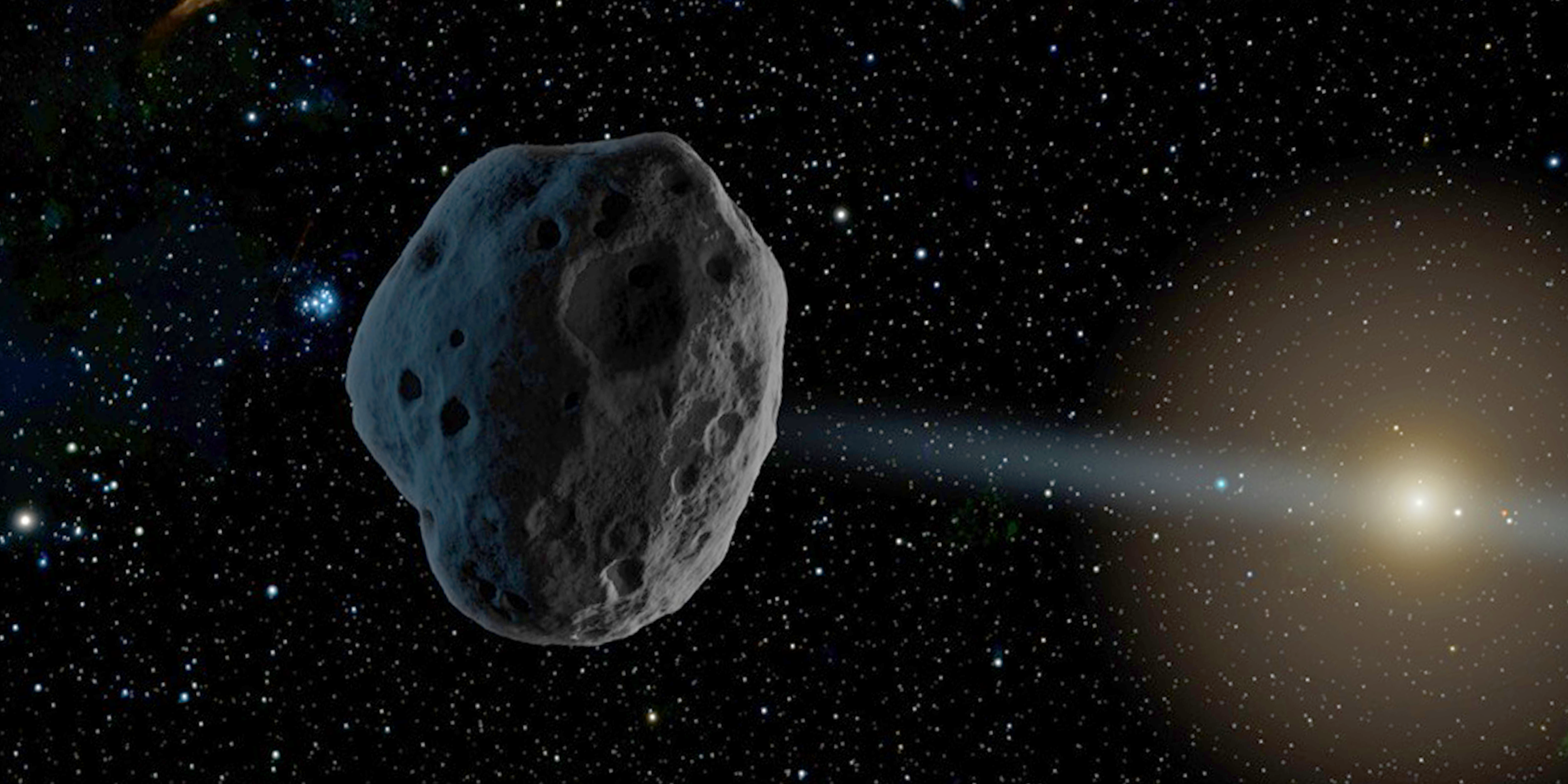 An artist's rendition of a celestial object traveling through our neighborhood. Credit: NASA, JPL-Caltech.
