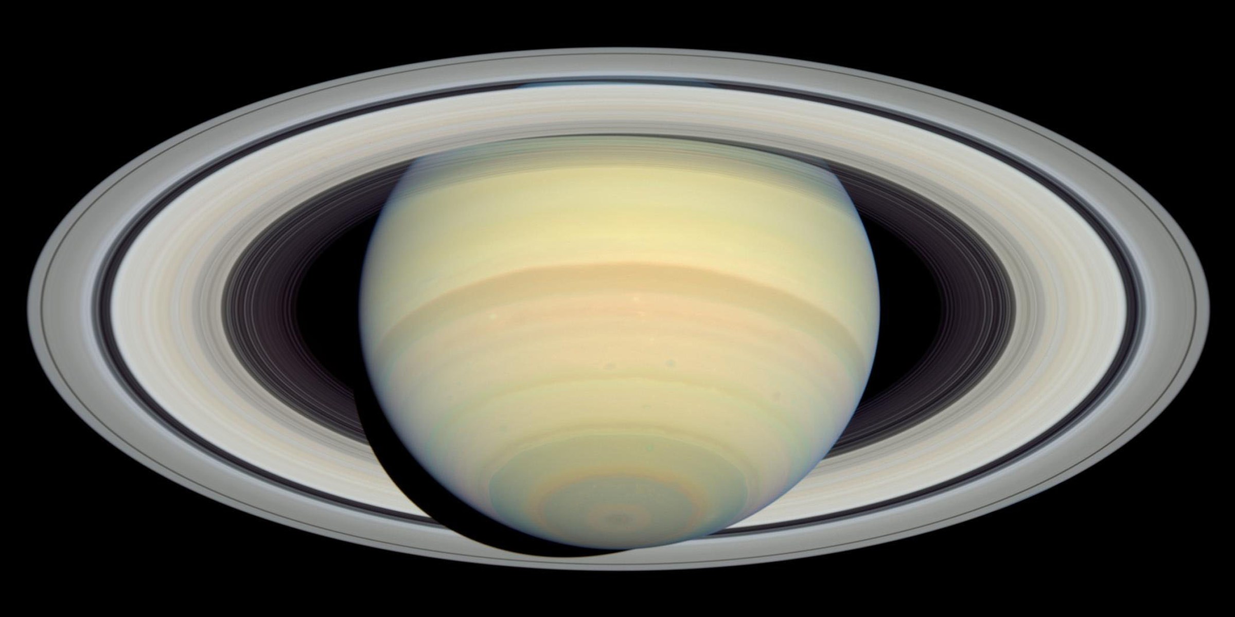 Hubble image of Saturn, March 22, 2004